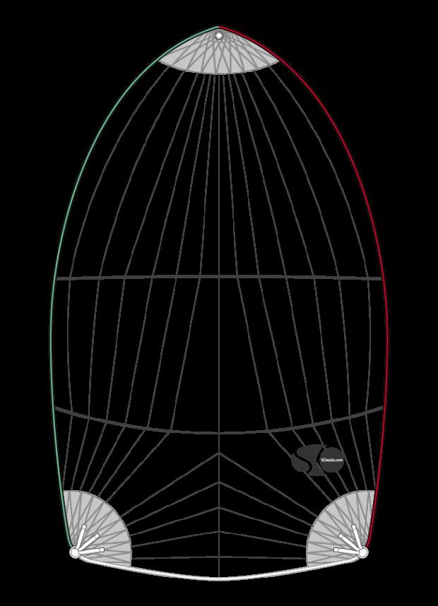 Spi symétrique 96m²