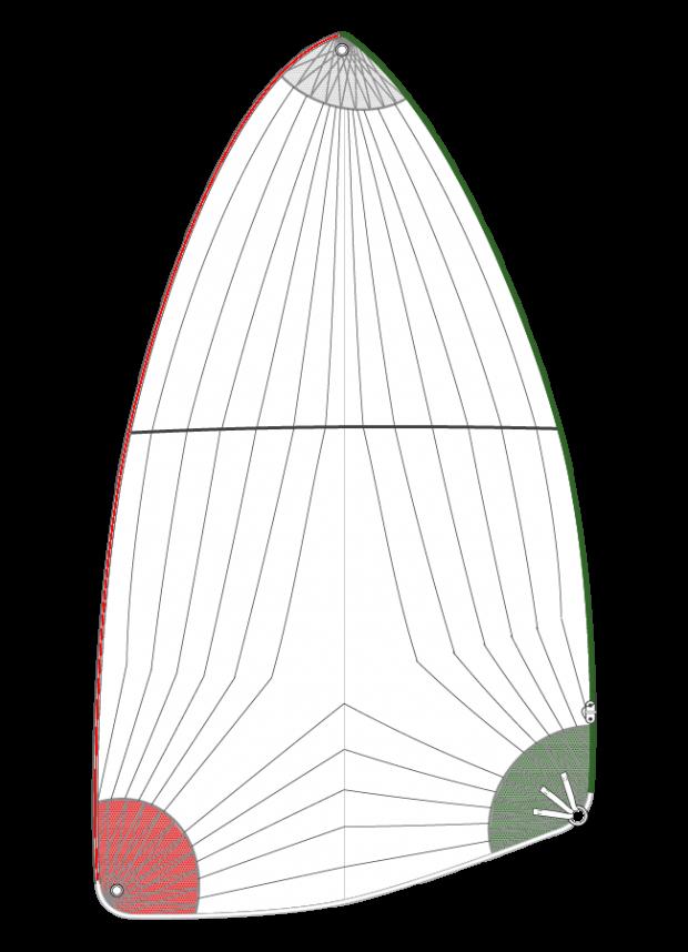 Déstockage Spi asymétrique 47m²